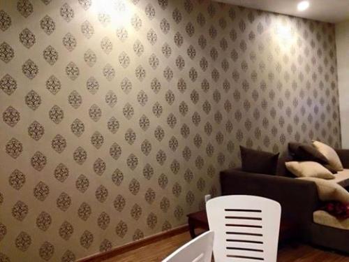 Thi công giấy dán tường tại HH Linh đàm