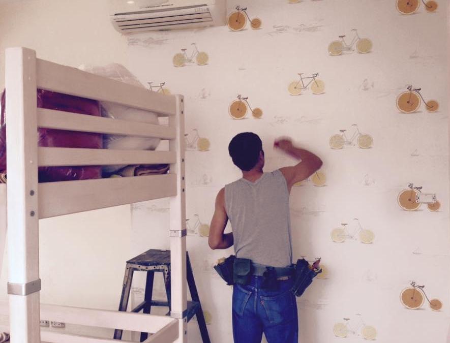 Thi công giấy dán tường tại Thanh Xuân ,Hà Nội