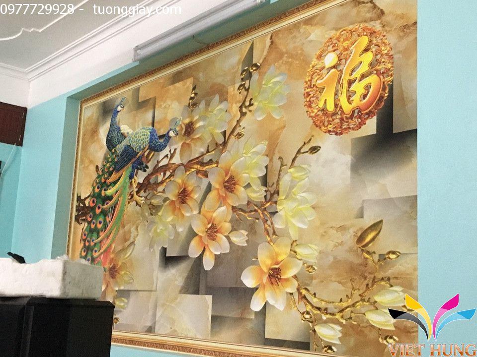 Thi công tranh dán tường nhà chú Tuấn,Phạm Ngọc Thạch 2