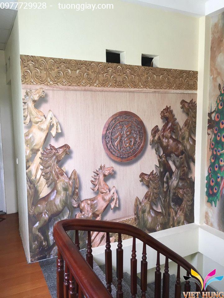 Thi công tranh dán tường nhà chú Tuấn,Phạm Ngọc Thạch 3