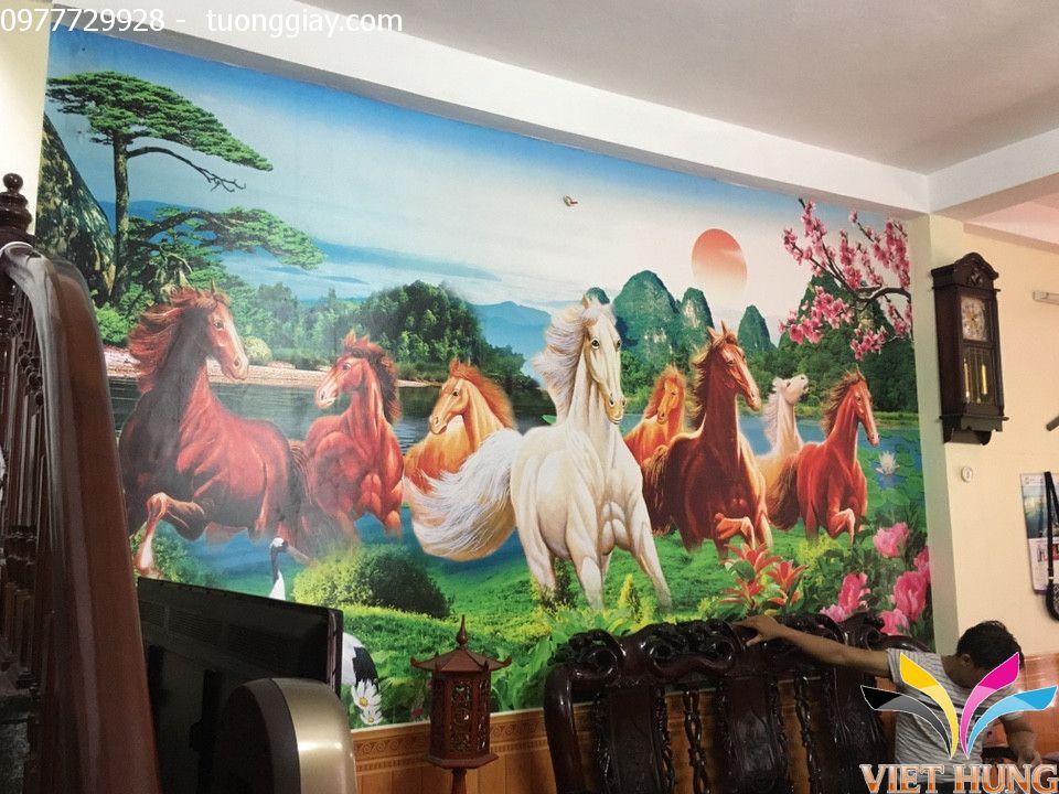 Thi công tranh dán tường nhà chú Tuấn,Phạm Ngọc Thạch 5