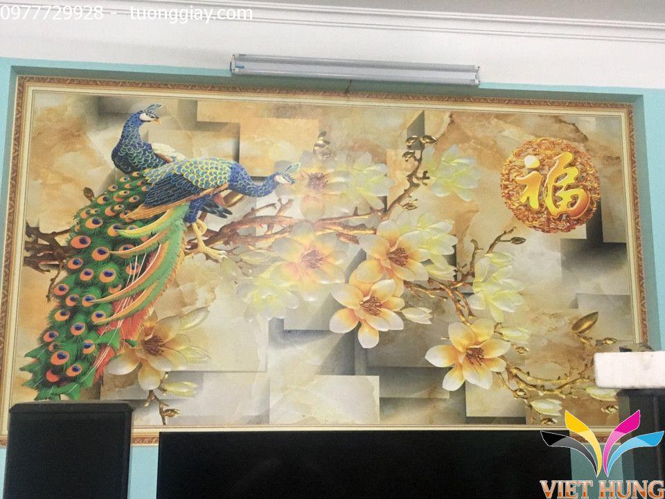 Thi công tranh dán tường nhà chú Tuấn,Phạm Ngọc Thạch