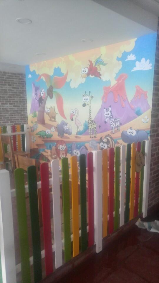 Thi công tranh dán tường quán ăn trần đại nghĩa 4