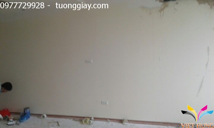 thi công tranh dán tường tại chung cư ngoại giao đoàn 2