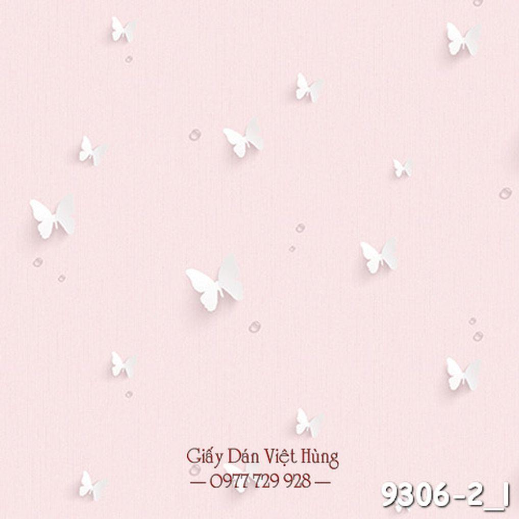 mẫu giấy dán tường màu hồng pastel cho phòng bé gái
